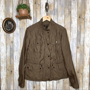 Bagatelle Brown Utility Windbreaker Jacket